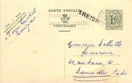 Belgique. CP 148 I  Griffe  Treignes - Sello Lineal