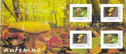 FRANCE, 2020,  MNH, PERSONALIZED BOOKLET, AUTUMN, MUSHROOMS - Champignons