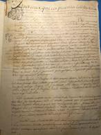 Pontoise 1780, Parchemin, Généralité De Paris, Constitution D'une Rente, - Manoscritti