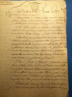 Pontoise 1792, Acte 4 P, Timbre Expédition - Manoscritti
