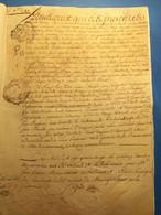Pontoise 1780 Parchemin. Délégation, Généralité De Paris - Manoscritti