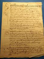 Sandricourt, Amblainville 1740 Acte 3 Pages, - Manoscritti