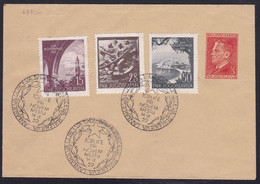 Yugoslavia, 1952, Navy, Complete Set, CTO On Cover, Toplice Pri Novem Mestu - Cartas
