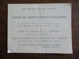 """Oude  Verkoperskaart    VENTE  DU  SCOUTISME  D"""" EXTENSION    Paris - Movimiento Scout"""