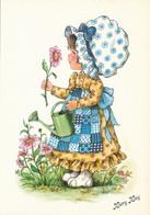 Illustrateur - Mary May - Fillette Avec Fleurs  Arrosoir - Other Illustrators