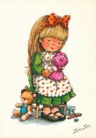 Illustrateur - Mary May - Fillette Poupée Ourse En Peluche Ourson - Other Illustrators