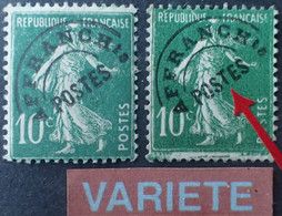 "2774 - 1922/1947 - TYPE SEMEUSE CAMEE - PREO - N°51 + 51e ☉ - VARIETE ➤➤➤ "" T "" Surélevé - Abarten: 1921-30 Ungebraucht"