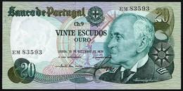 PORTUGAL - 20 ESCUDOS 13 SEPTEMBRE 1978 - UNC - Portugal