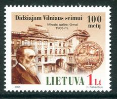 LITHUANIA 2005 Parliament Building  MNH / **.  Michel 893 - Lithuania