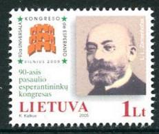 LITHUANIA 2005  World  Esperanto Congress MNH / **.  Michel 880 - Lithuania