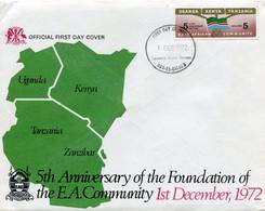 UGANDA,KENYA,TANZANIA 1972 FDC. - Kenya, Uganda & Tanganyika