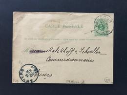 EP 1884 15 FEVR - EC BAUDOUR Naar EC ANVERS 16 FEVR - Cartoline [1871-09]