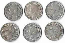 Australie Threepence Argent   Georges VI  Lot De 6 Monnaies 1948 à 1952 - Threepence
