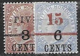British Honduras 27.5 Mh *  Euros 1891 - Brits-Honduras (...-1970)
