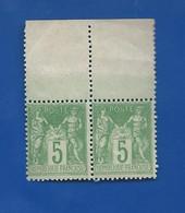 Timbre Sage I   En Paire N° 102    Neufs - 1876-1878 Sage (Type I)