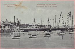 Liepaja (Libau) * Hafen, Brücke, Schiffe, Segelboot * Lettland * AK3157 - Latvia