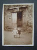 PHOTOGRAPHIE Ancienne 1934 : CAFE DE LA PAIX - BYRRH / CORSAVY ( PYRENNEES ORIENTALES - 66 ) - Places