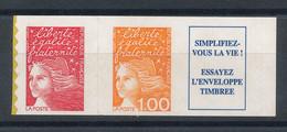 3101b** Marianne Tvp + 1f Orange Avec Vignette - Unused Stamps