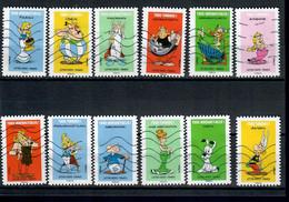 YT AA 1729 A 1740 Serie Complete Asterix - Oblitérés