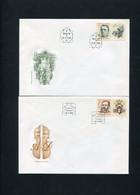 CZECHOSLOVAKIA 1991 5FDC ARTIST? - Sin Clasificación