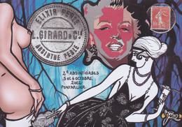 CPM Salon De Cartes Postales Par JIHEL Tirage Limité 30 Ex Numérotés Signés Pin Up Nu Féminin Pontarlier Absinthe - Beursen Voor Verzamellars
