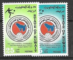 Kuwait Mnh **1989 Complete Football Set 7 Euros - Kuwait