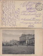 DR - Lyck 1916 Feldpostkarte Sw-Ansicht Bahnhof Wilna Vilnius - Occupation 1914-18