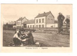 REF2828/ CP-PC Signeulx Guerre 14-18 La Gare Animée Utilisée En Feldpost - Musson