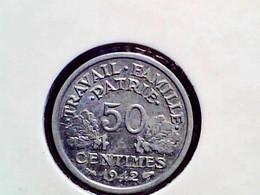 France 50 Centimes 1942 KM 914.1 - G. 50 Centimes