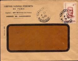Lettre, Managascar, Tananarive, Comptoir National D Escompte, 1952   (bon Etat) - 1921-1960: Modern Period