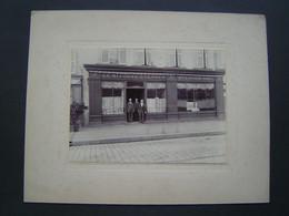 GRANDE PHOTOGRAPHIE Ancienne 1900 : MAGASIN DRAPIER LE BITOUZE . EVENSEN & AVENARD - Professions