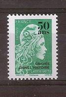 Marianne L'Engagée Lettre Verte Surchargé 50 Ans De L'Imprimerie (2020) - 2018-... Marianne L'Engagée