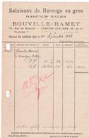 62-Bouville-Ramet..Salaisons De Harengs..Etaples-sur-Mer....(Pas-de-Calais)...1938 - Alimentare