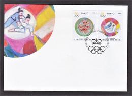 4.- LIECHTENSTEIN 2020 FDC Summer Olympics In Tokyo - Estate 2020 : Tokio