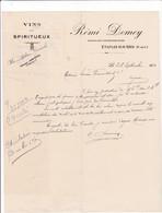 62-R.Demey...Vins & Spiritueux..Etaples-sur-Mer....(Pas-de-Calais)...1920 - Altri