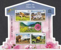 INDIA 2020 UNESCO World Heritage Sites (II), Natural Sites, Fauna/ Flora,  MS, Miniature Sheet,  MNH(**) - Ongebruikt