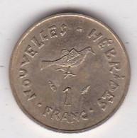 Nouvelles - Hébrides 1 Franc 1975 En Bronze Alu Nickel. KM# 4.2 - Vanuatu