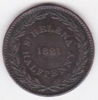 Sainte Helene Half Penny 1821 Compagnie Britannique Des Indes Orientales. KM# A4 - Saint Helena Island