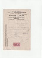 62-M.Caron...Fruits & Légumes...Lens...(Pas-de-Calais)...1947 - Alimentare