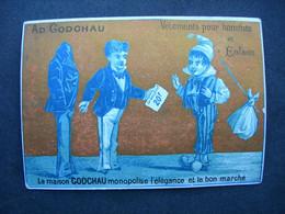 CHROMO Litho Doré L. Mertens  : LA Maison GODCHAU MONOPOLISE L'ELEGANCE ET LE BON MARCHE  / Victorian Trade Card - Andere
