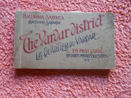 20 Cpa Carnet Macedonia Salonica Quartier Vardar Prostitution Pour Militaire - Grecia