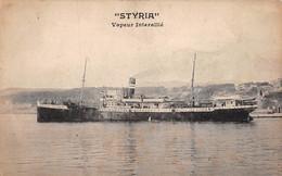 """Cpa ± 1940 ▬ Paquebot - Le """"Styria"""" - Vapeur Interallié (¬‿¬) ♦ - Paquebots"""