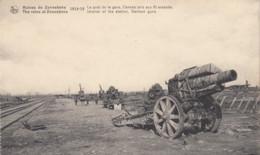 ZONNEBEKE / OORLOG 1914-18 / PERRON VAN  HET STATION MET KANONS - Zonnebeke