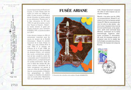 """"""" FUSEE ARIANE : 100 ème SATELLITE / KOUROU """" Sur Feuillet CEF 1er Jour Sur Soie De 1995. N° YT 2948. FDC - Zonder Classificatie"""