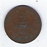 Monnaie - France - Dupuis - 2 Centimes - 1911 - B. 2 Centimes