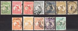 Australia 1913 - Kangaroo And Map - Mi.4-18 - 12 V - Used - Used Stamps