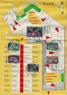 -Belgique -EXPO 58,Document De La Poste ,Telexpo- Série Complète Expo. Avec Oblitérations Du 17/04/58 - 1958 – Bruxelles (Belgio)