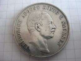 Saxe - Albertine 3 Mark 1909 - 2, 3 & 5 Mark Argento