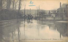 J134 - 76 - ROUEN - Seine-Maritime - Inondations 1919-1920 - Environs - Bapeaume Inondé - Passage En Voiture - Rouen