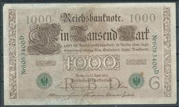 Allemagne Reichsbanknote 1000 Mark Bon état - 1000 Mark